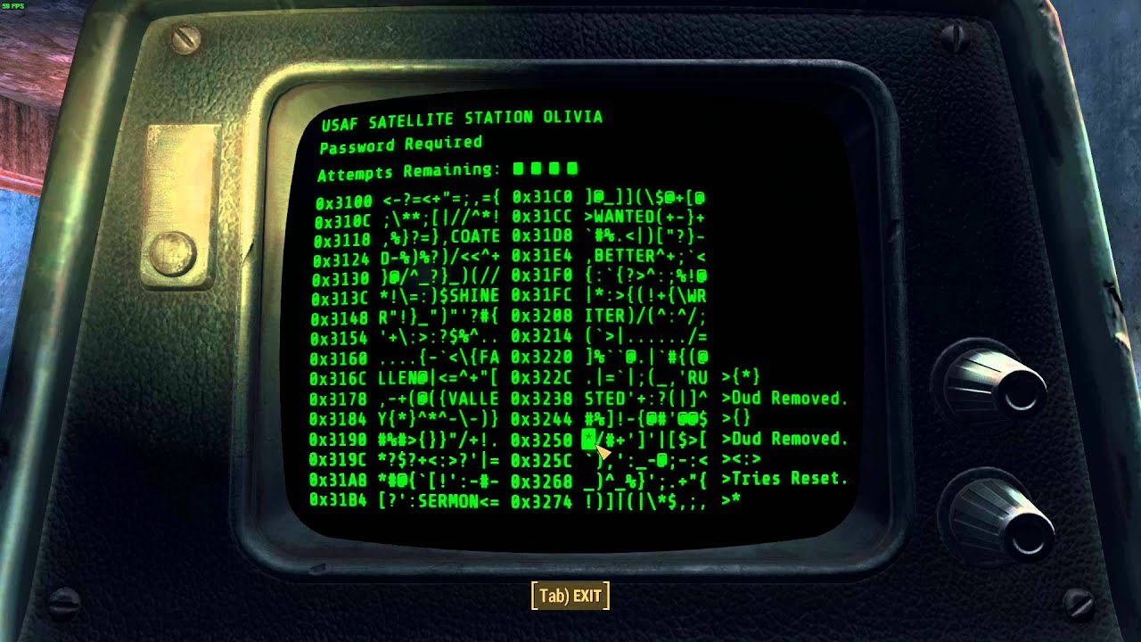 How to hack a terminal or computer in fallout 3, nv and 4, the.