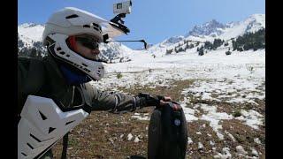 Alma Ata Shymbulak on electric unicycle KINGSONG KS 16X