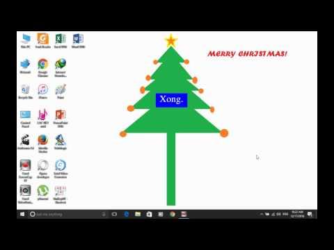 [Windows 10] Cách Vẽ Hình Và Viết Chữ Lên Màn Hình Nền Desktop