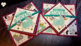 Diamond Fold Card mit Stampin' Up! Zauberhafter Tag