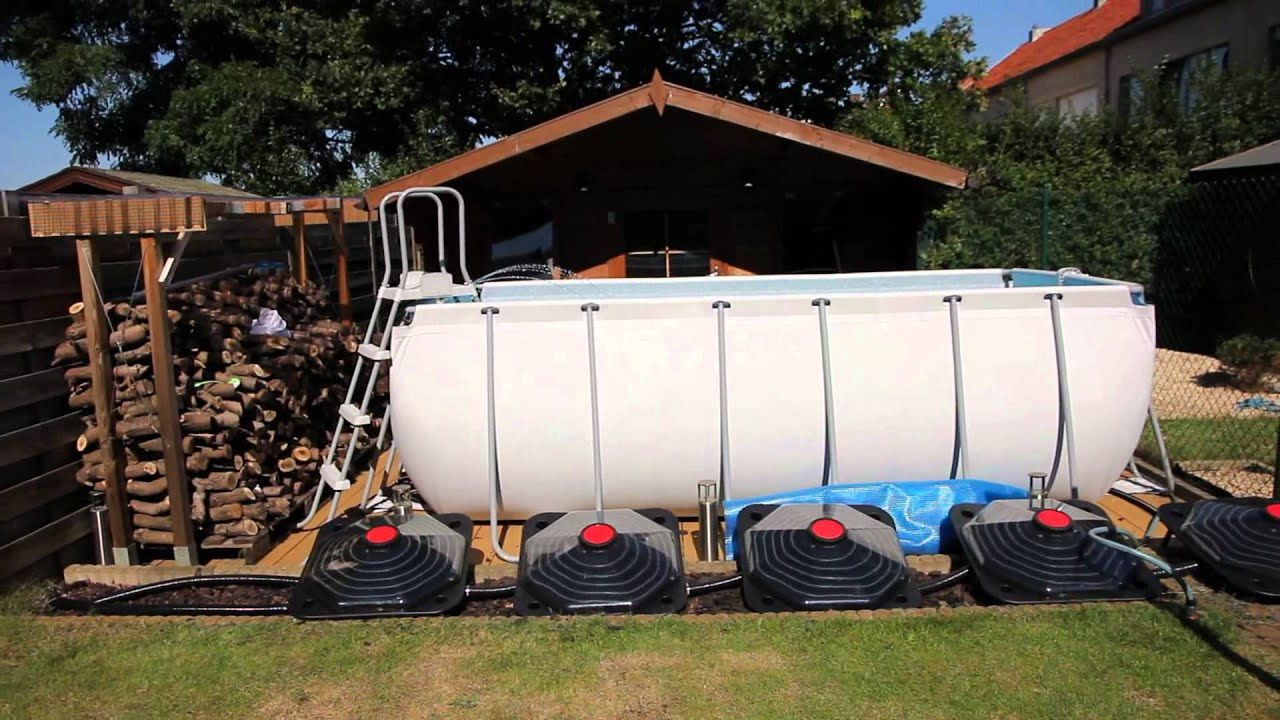 Bestway Metal Frame Pool + Homemade fountain + skimmer + sandfilter ...