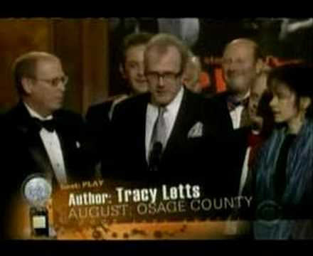 August: Osage County  Tracy Letts' Tony Award Speech