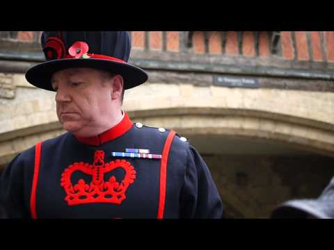 Yeoman Warder giving a funny tour at the Tower of London