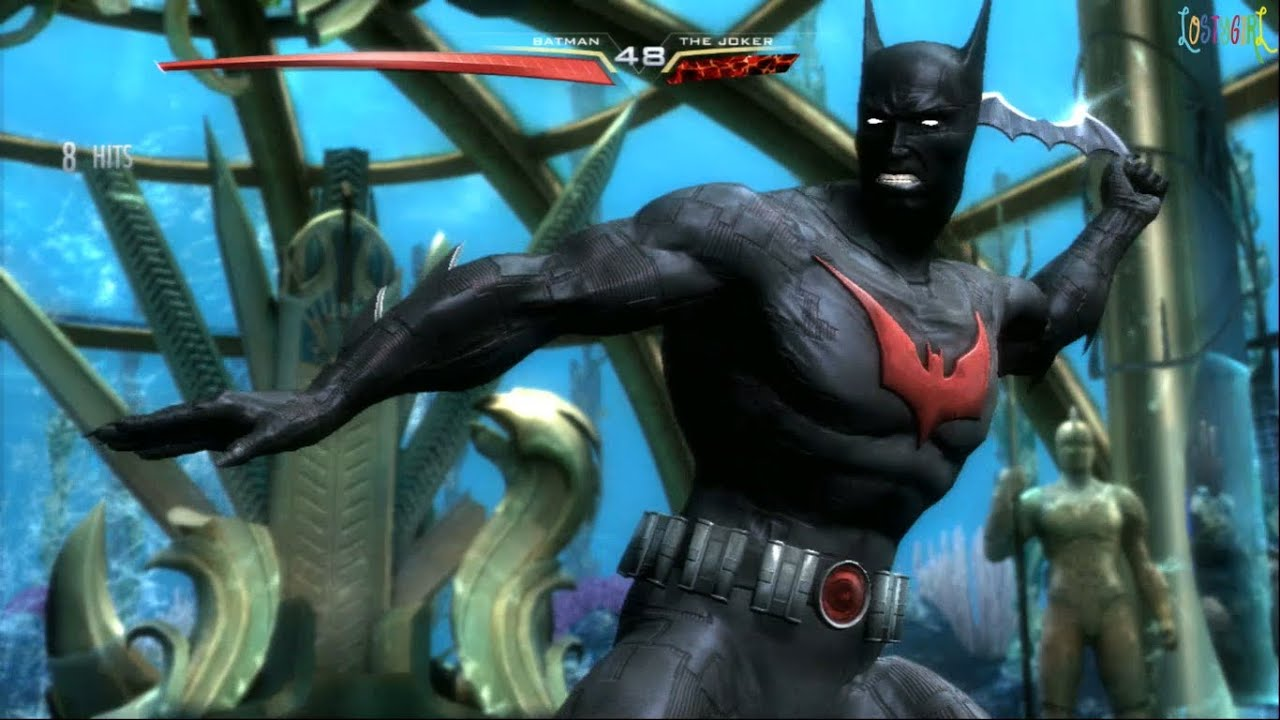 Injustice Gods Among Us Batman Beyond Costume Gameplay ...