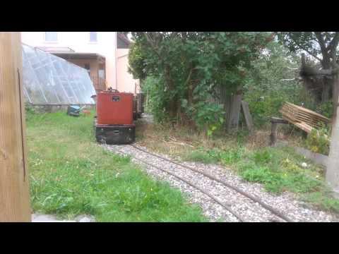 Rundfahrt auf der 260-mm-Feldbahn/going round the 10 1/4 inch gauge railway