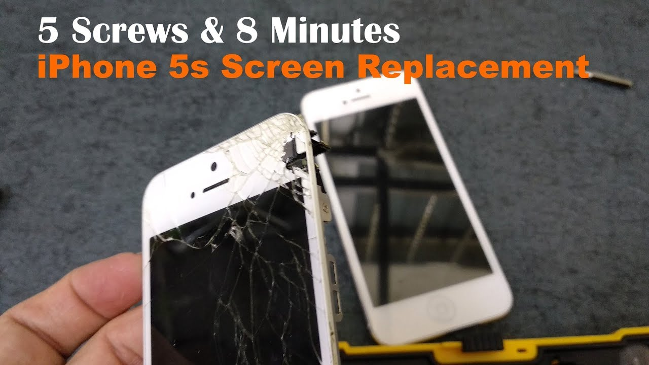 satisfying fix 5 screws and 8 minutes iphone 5s cracked screen replacement