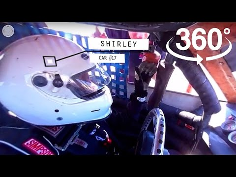 360°| Ride in a Race Car in 360 VR with a Senior