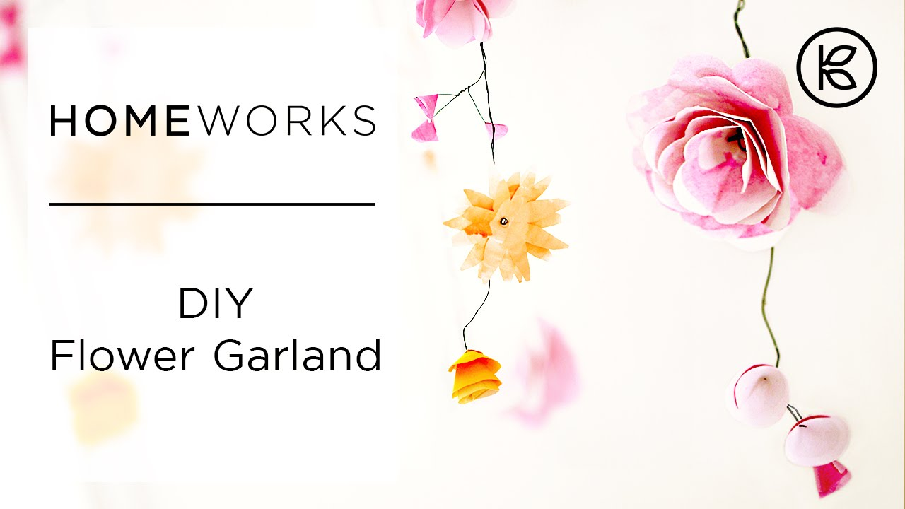 How To Make Paper Flower Garlands Kin Community Youtube