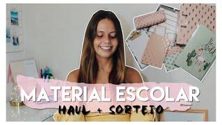 HAUL + SORTEIO MATERIAL ESCOLAR 2018/19 | Regresso às Aulas