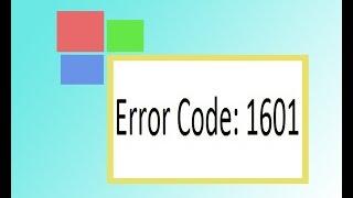 как исправить ошибку 1601