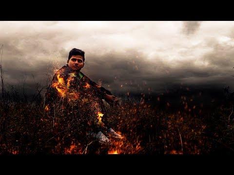 Burn Yourself Photoshop Manipulation Fire Effects tutorial