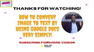 How to convert image to text by using google docs very simply