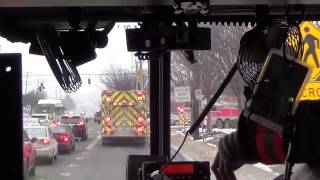 MCFRS Rescue Engine 703 Responding To Fire (Ride Along)