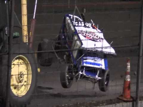 Sprint Car Flips and Blown Engine @ Lady Luck Speedway