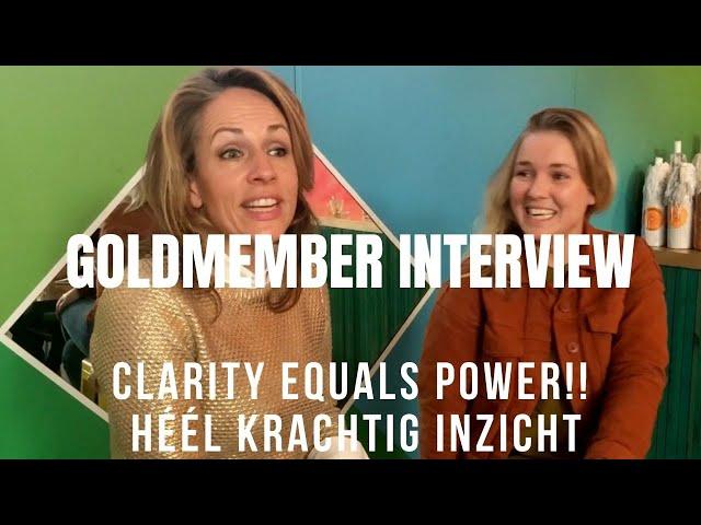 Clarity equals power!! Héél krachtig inzicht. Interview Lieke Sanders