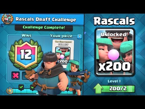 NEW 12 WIN RASCALS CHALLENGE GAMEPLAY & BEST TIPS! | Clash Royale NEW RASCALS CARD GAMEPLAY!
