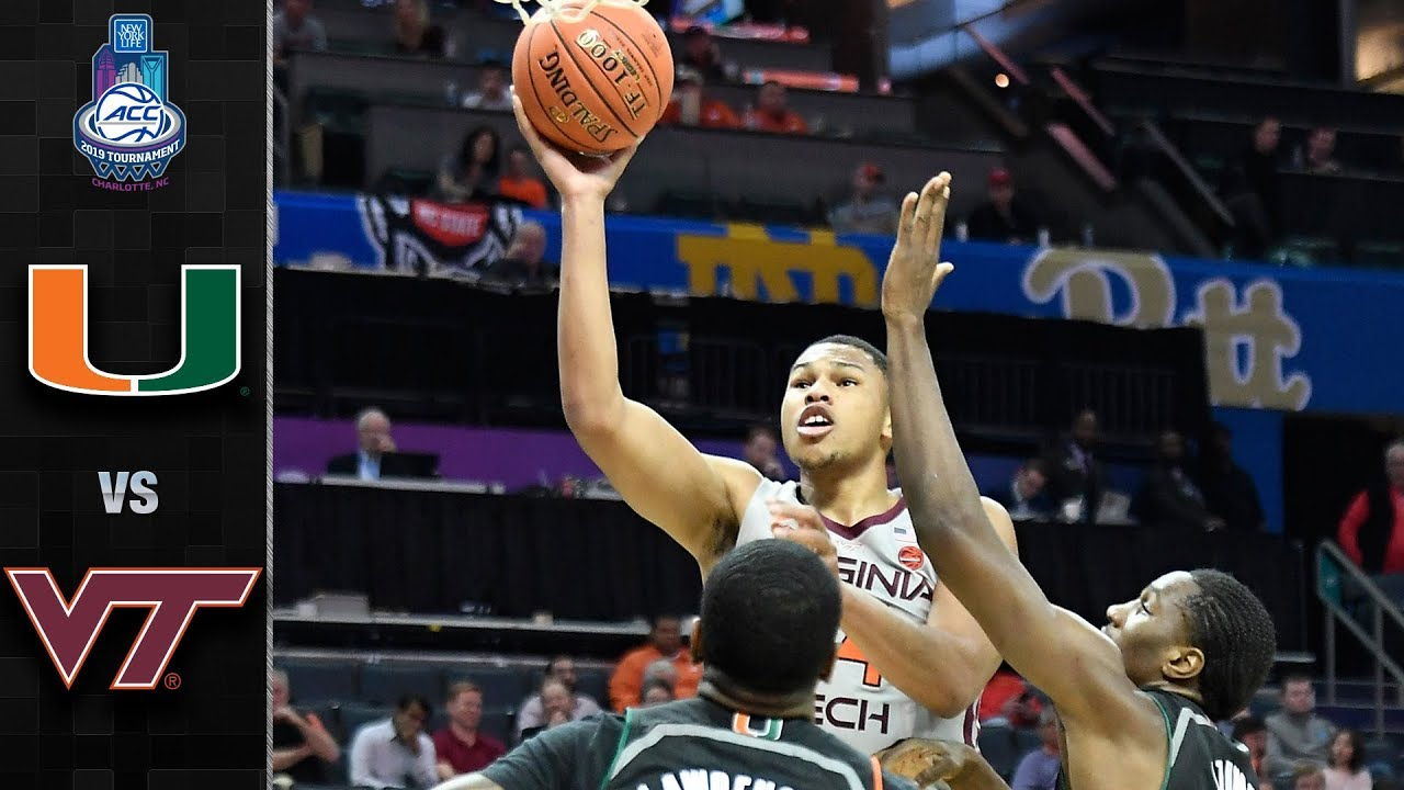 Miami Vs Virginia Tech Acc Basketball Tournament Highlights 2019