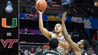 Miami vs. Virginia Tech ACC Basketball Tournament Highlights (2019)