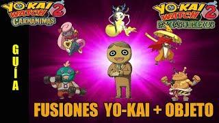 Yo-Kai Watch 2 Carnánimas y Fantasqueletos: Guía de las fusiones yo-kai + objeto