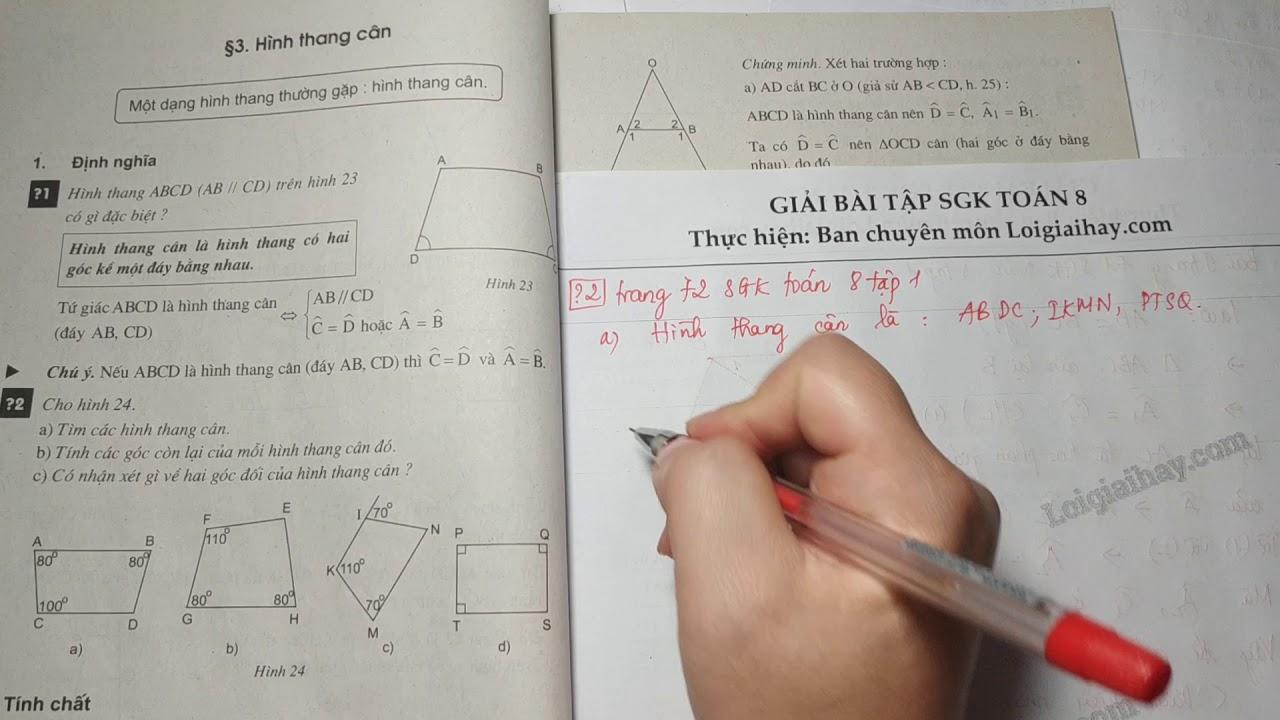 Trả lời câu hỏi 2 bài 3 trang 72 SGK toán 8 tập 1