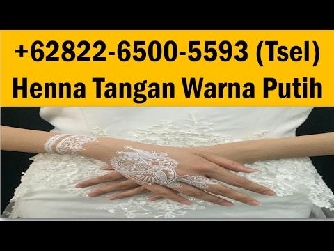 0822 6500 5593 Tsel Henna Tangan Warna Putih Youtube