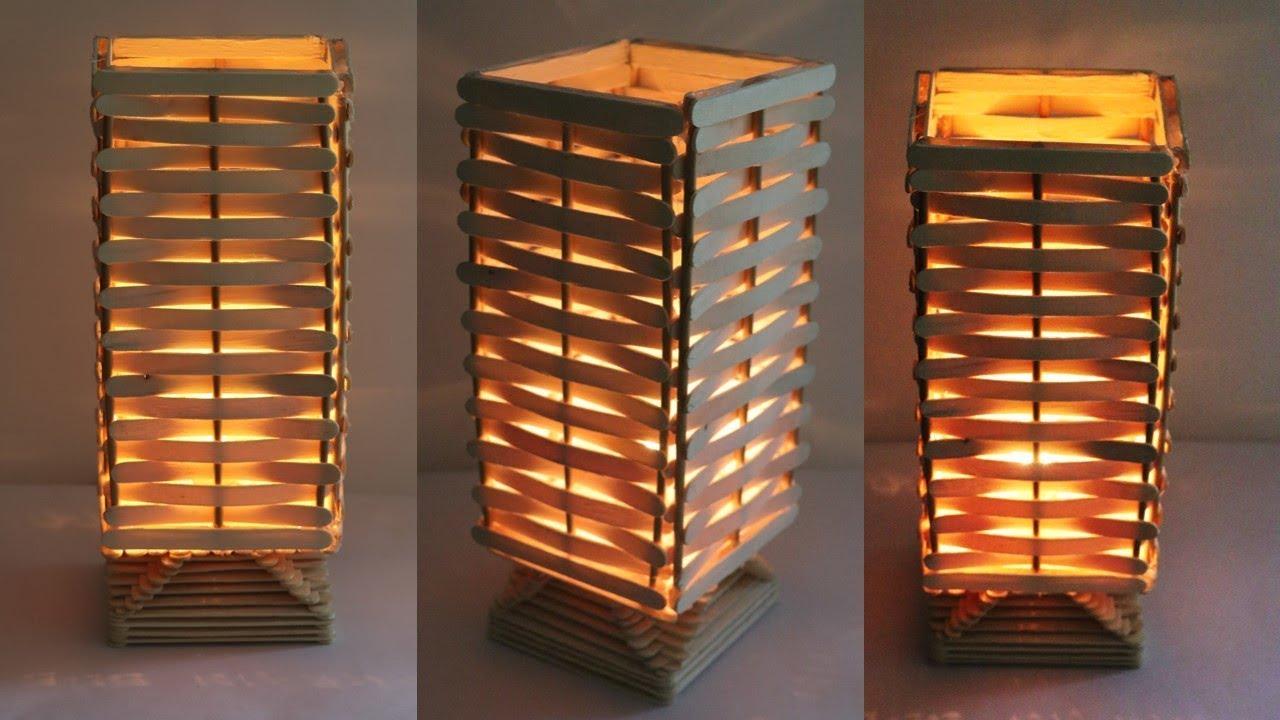 How To Make Night Lamp At Home Diy Handmade Lamp Raj Easy Craft Youtube