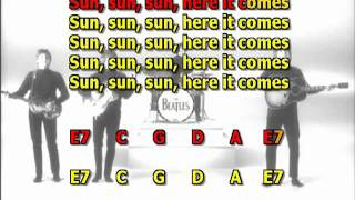 Here Comes The Sun Beatles No Lead Guitar Instrumental Lyrics Chords Cover