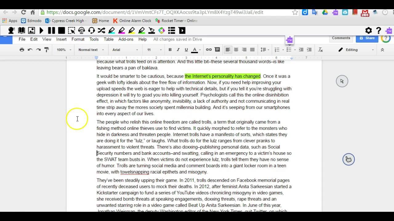annotate pdf online google docs
