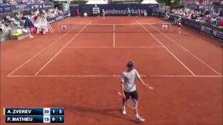 Zverevs first Challenger title [ATP Braunschweig 2014: Zverev - Mathieu (Final) Highlights]