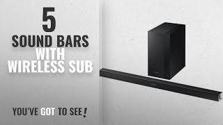 Top 5 Sound Bars With Wireless Sub [2018]: Samsung 2.1 Channel 300 Watt Sound Bar with Wireless