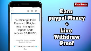 Earn $2.40 From Apps Android | Live Withdraw / Payment Proof (Paypal Money Trick)