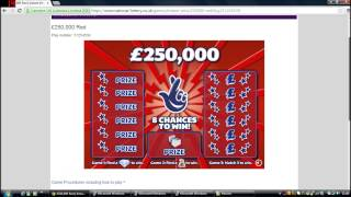 Online Scratchcards from The National Lottery © (1) TASTER VIDEO!!