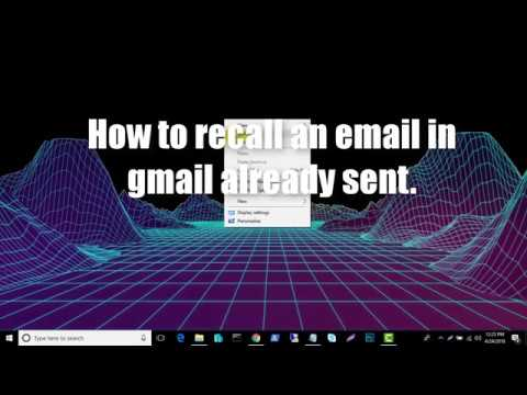 HOW TO RECALL ALREADY SENT AN EMAIL IN GMAIL