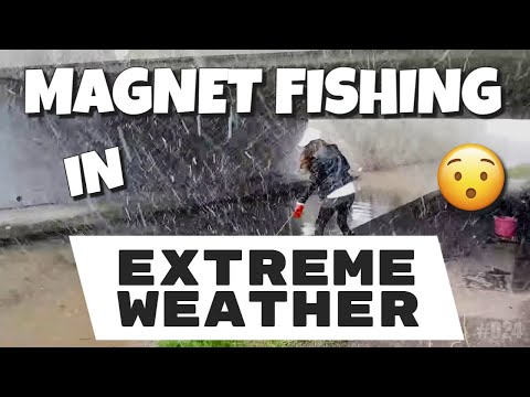 Magnet Fishing #022 Extreme Weather Dirtiest Location.