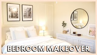 DIY MASTER BEDROOM MAKEOVER ON A BUDGET | bedroom decorating ideas 2021 + master bedroom makeover