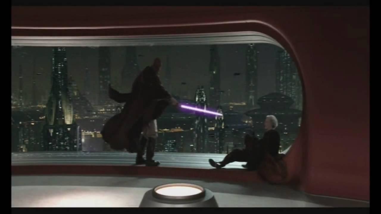 Star Wars Fan Edit Palpatine Vs Mace Windu Episode Iii Revenge Of The Sith Youtube