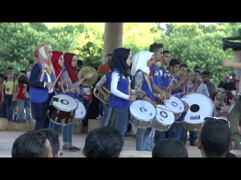 The Day of music in the Central Park of Aleppo