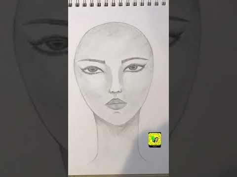 وجه فتاة بقلم الرصاص ✏️
