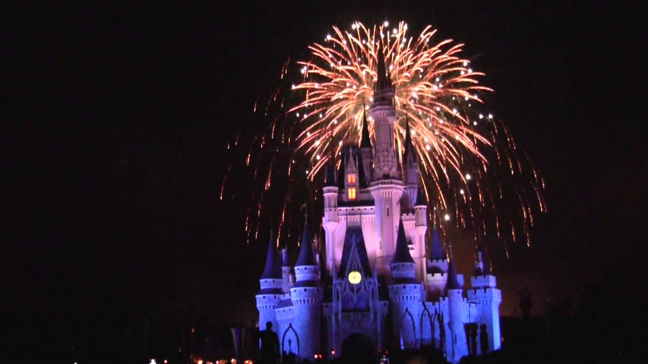 walt disney world magic kingdom 4th of july fireworks 2013 full