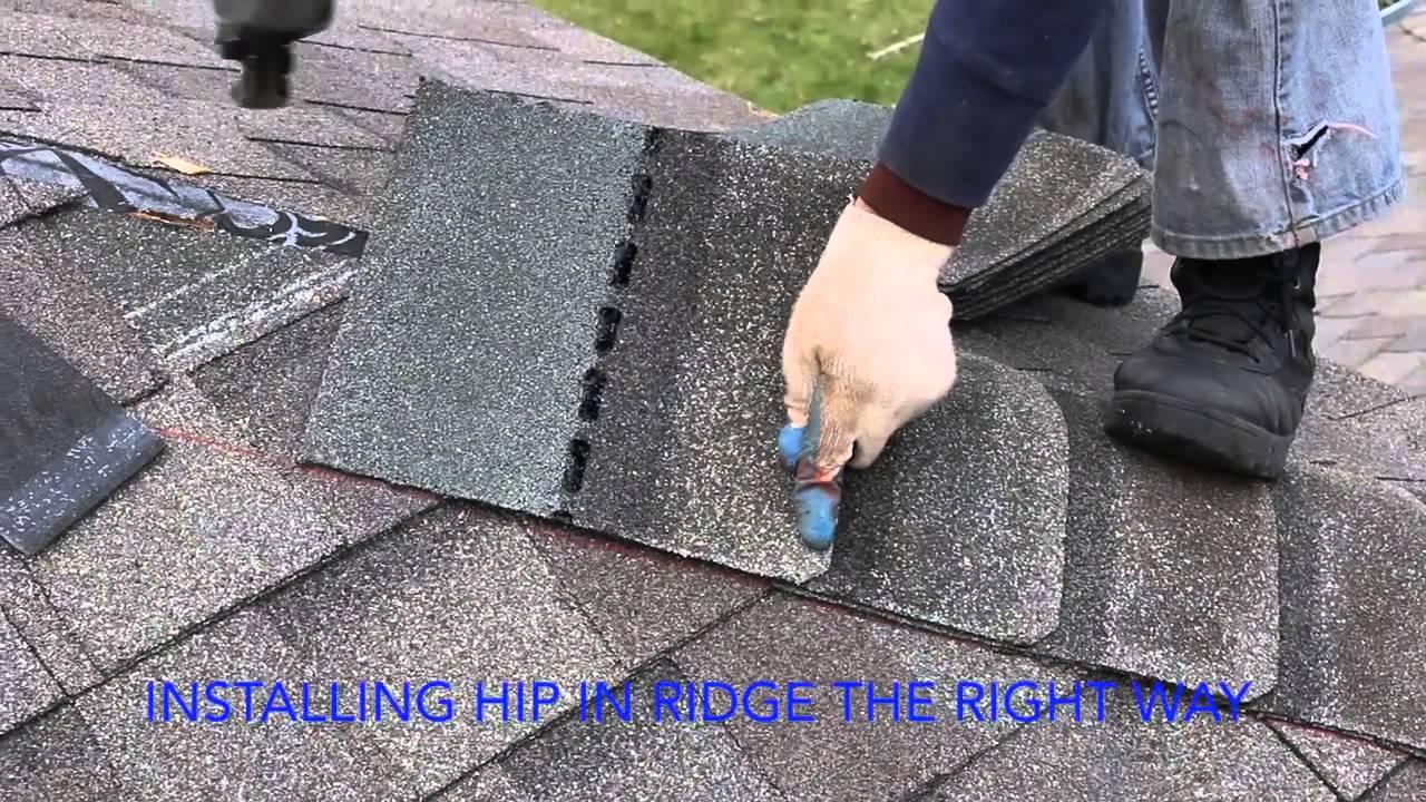 How To Install Ridge Cap Short Version Youtube