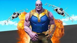 Thanos VS The Military Base! (GTA 5 Mods)