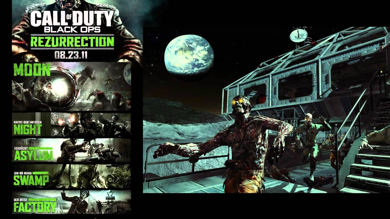 what are all of the zombie maps on black ops