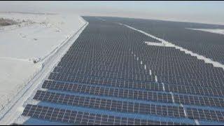 В Карагандинской области запустили крупнейшую в ЦА солнечную электростанцию