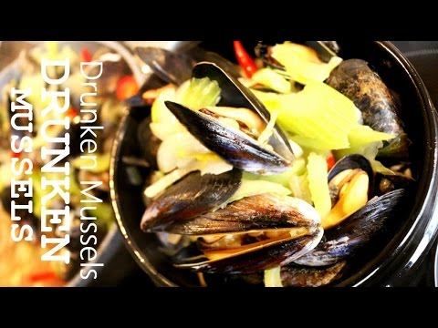 How To Make Drunken Mussels | Moules Marinieres with Wine | Belgian Mussels --- Moules Frites Recipe