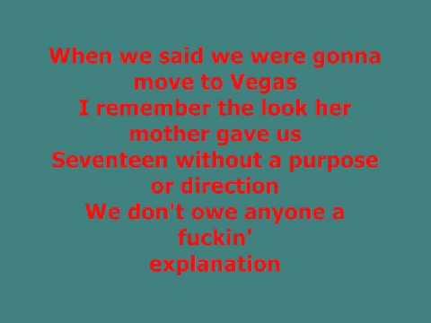 Blink -182 Rock Show Lyrics