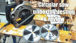 Budget circular saw from TECCPO - unboxing, testing and review