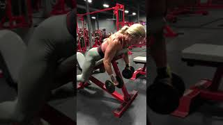 Rear felt flys on incline bench: Thompson Nutrition Training