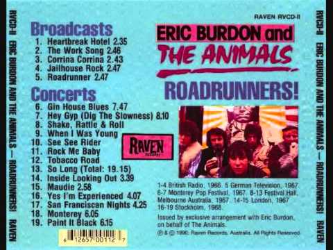 Roadrunners - Eric Burdon & The Animals (Rarites Compilation)