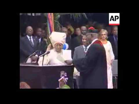Inauguration of Africa's 1st woman President