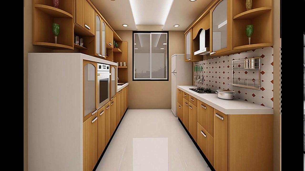 Indian parallel kitchen interior design - YouTube